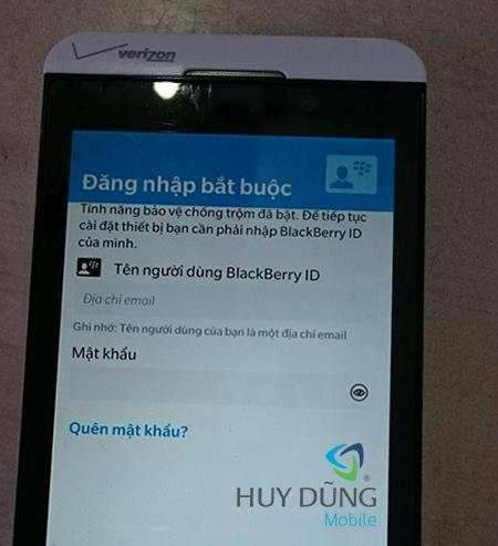 Mở khóa Xóa tài khoản/ Gỡ tài khoản Blackberry ID cho Blackberry uy tín giá rẻ tại HCM