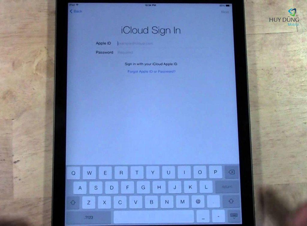Mở khoá, xoá tài khoản iCloud iPad Air unlock lấy liền tại HCM