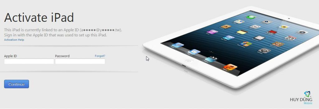 Mở khoá, xoá tài khoản iCloud iPad Air 2 unlock lấy liền tại HCM