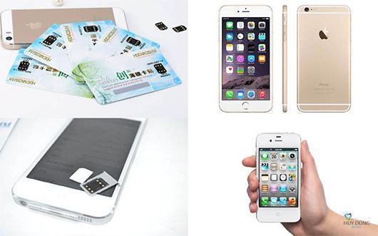Bán Sim ghép unlock iPhone 6s, 6s Plus Lock nhà mạng AT&T, Tmobile, Au, Docomo, Softbank