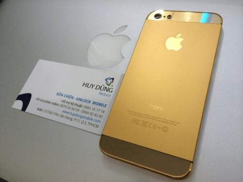 Vỏ iphone 5 và 5s vàng có ime và không ime
