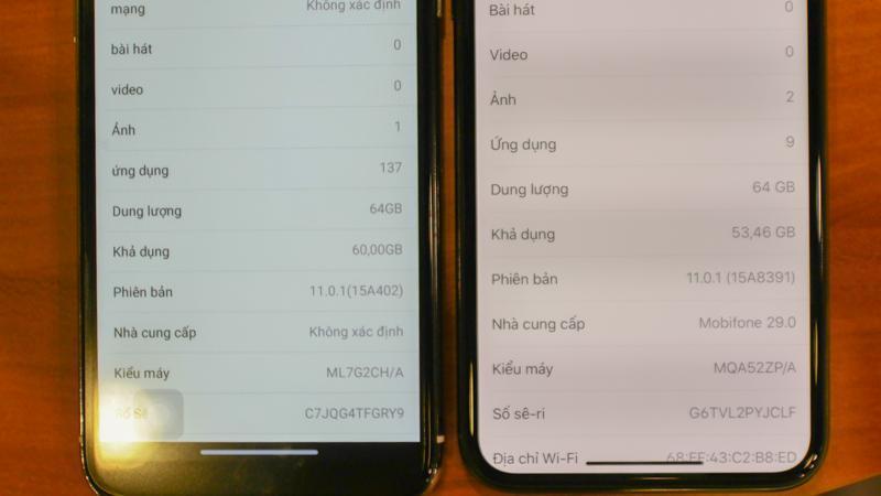 iPhone X thật và iPhone X nhái