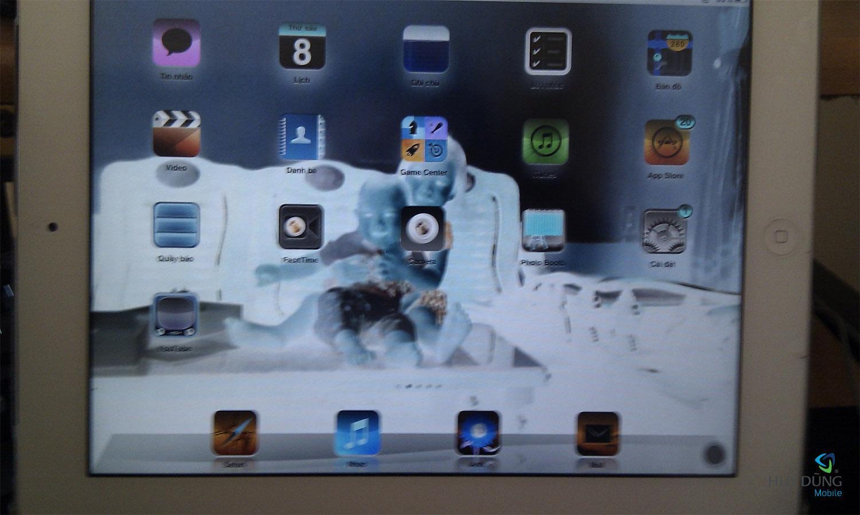màn hình iPad bị mờ âm bản